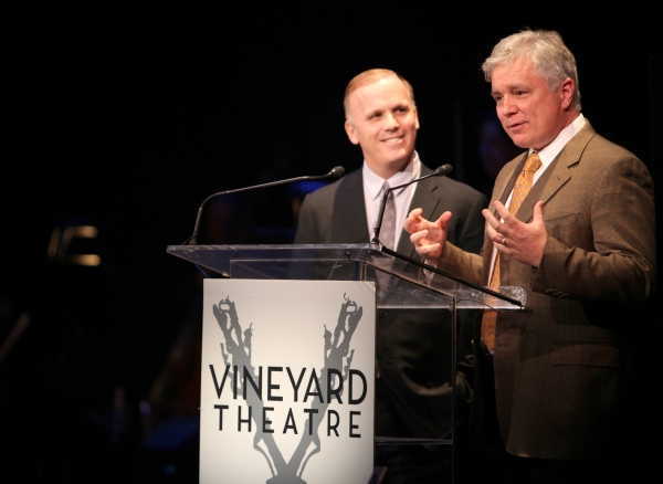 Scott Ellis & David Thompson performing in STRO! The Vineyard Theatre Annual Spring Gala honors Susan Stroman at the Hudson Theatre in New York City
