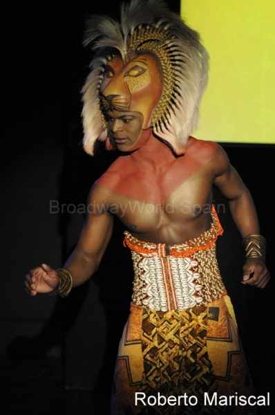 Andile Gumbi at THE LION KING Hits Madrid in October 2011