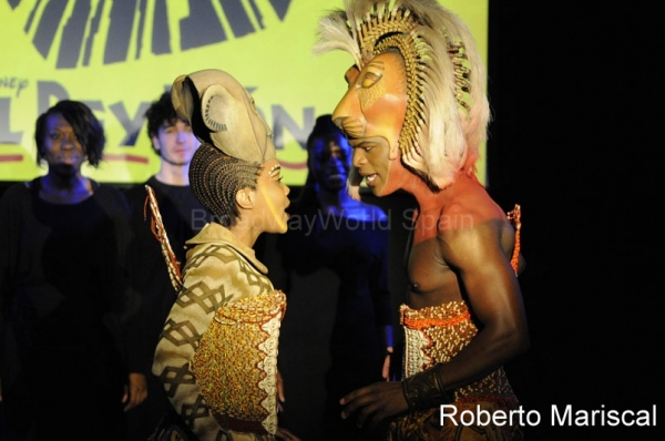 Jessica Mears and Andile Gumbi at THE LION KING Hits Madrid in October 2011