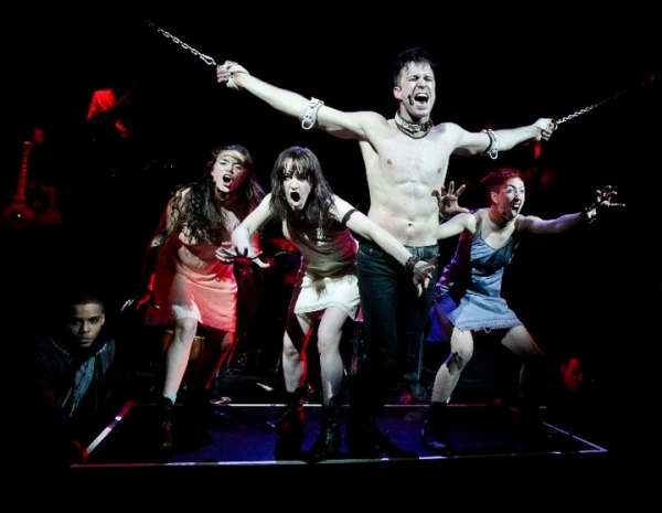Emmanuel Avellanet, Ashley Flanagan, Celina Carvajal, Gavin Creel, and Jo Lampert at Gavin Creel in A.R.T.'s PROMETHEUS BOUND