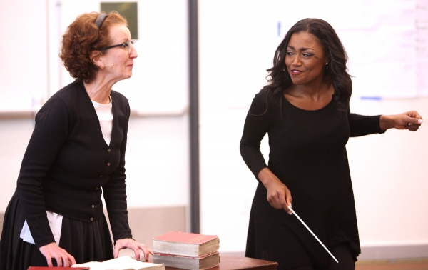 Audrie Neenan & Patina Miller attending the Open Press Rehearsal for the New Broadway Musical 'Sister Act' at the New 42nd Street Studios in New York City. *** Local Caption *** Performance, Rehearsal, Studio