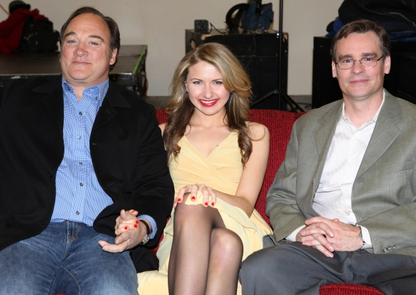 Jim Belushi & Nina Arianda & Robert Sean Leonard attending the meet & greet for the upcoming Broadway Revival of 'Born Yesterday' at the Roundabout Rehearsal Studios in New York City.