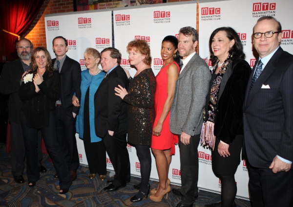 Daniel Sullivan, Frances McDormand, Patrick Carroll, Estelle Parsons, David Lindsay-Abaire, Becky Ann Baker, Renee Elise Goldsberry, Tate Donovan, Lynne Meadow and Barry Grove attending the Opening Night Performance After Party for the Manhattan Theatre C