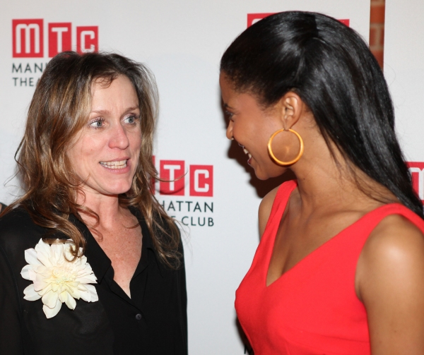Frances McDormand & Renee Elise Goldsberry attending the Opening Night Performance After Party for the Manhattan Theatre Club's 'Good People'  in New York City.