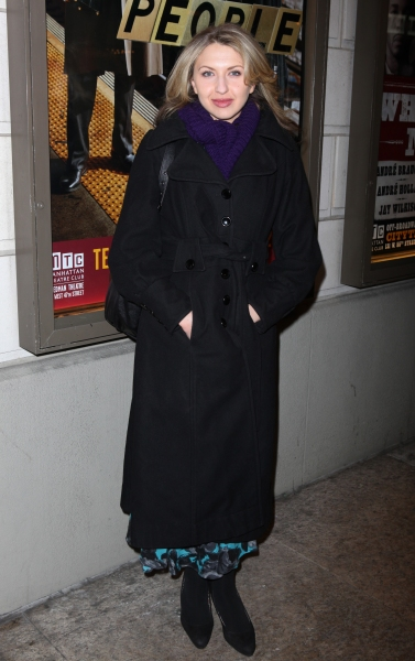 Nina Arlanda arriving for the Opening Night Performance of the Manhattan Theatre Club's 'Good People'  in New York City. at GOOD PEOPLE  Opens on Broadway - Arrivals