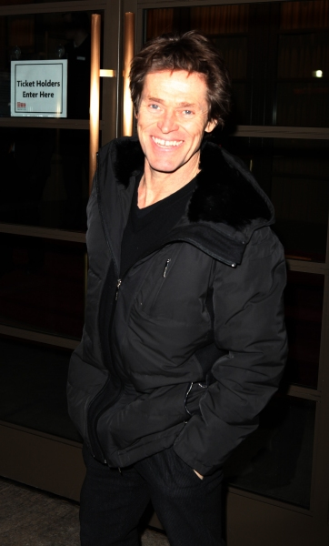Willem DaFoe arriving for the Opening Night Performance of the Manhattan Theatre Club's 'Good People'  in New York City. at GOOD PEOPLE  Opens on Broadway - Arrivals