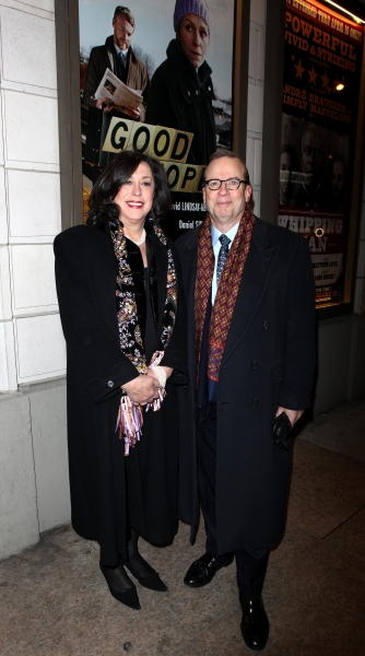 Lynne Meadow & Barry Grove arriving for the Opening Night Performance of the Manhattan Theatre Club's 'Good People'  in New York City.