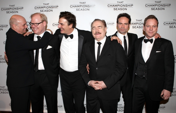 Jim Gaffigan, Chris Noth, Gregory Mosher, Brian Cox, Jason Patric and Kiefer Sutherland attending the Opening Night Performance After Party for  'That Championship Season' at Gotham Hall in New York City.
