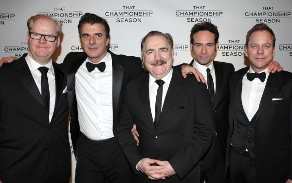 Jim Gaffigan, Chris Noth, Brian Cox, Jason Patric and Kiefer Sutherland attending the Opening Night Performance After Party for  'That Championship Season' at Gotham Hall in New York City.