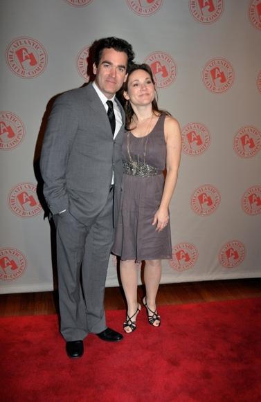 Brian d'Arcy James and Jennifer Prescott