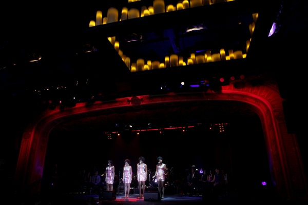 The Shirelles played by Kyra Da Costa, Crystal Starr Knighton, Erica Ash & Christina Sajous performing a Sneek Peek of the New Broadway Musical  'Baby It's You' at the Hard Rock Cafe in New York City.