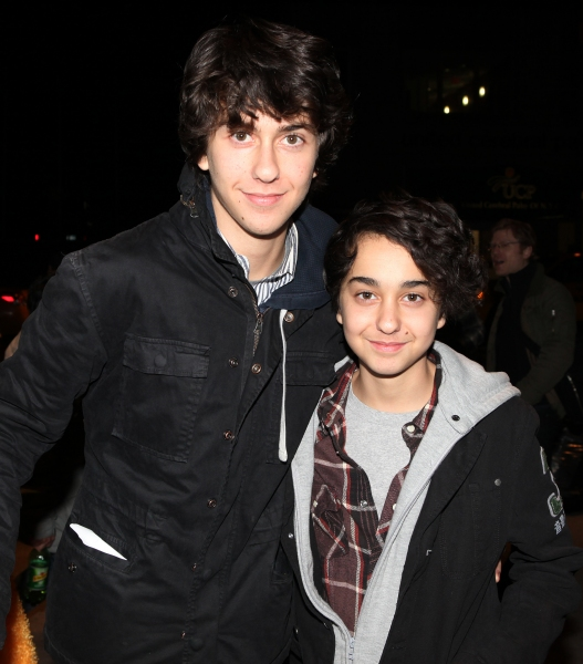 Nat Wolff & Alex Wolff attending The 24 Hour Musicals After Party at the Gramercy Theatre in New York City.