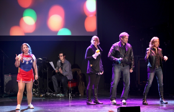 Joelle Lurie, Julie Reiber, Marc Kudisch, Amanda Green  Performing in 'Childhood Sweethearts' at The 24 Hour Musicals after performance party at the Gramercy Theatre in New York City.