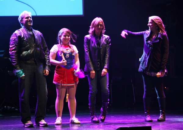 Marc Kudisch, Joelle Lurie, Amanda Green & Julie Reiber Performing in 'Childhood Sweethearts' at The 24 Hour Musicals after performance party at the Gramercy Theatre in New York City.