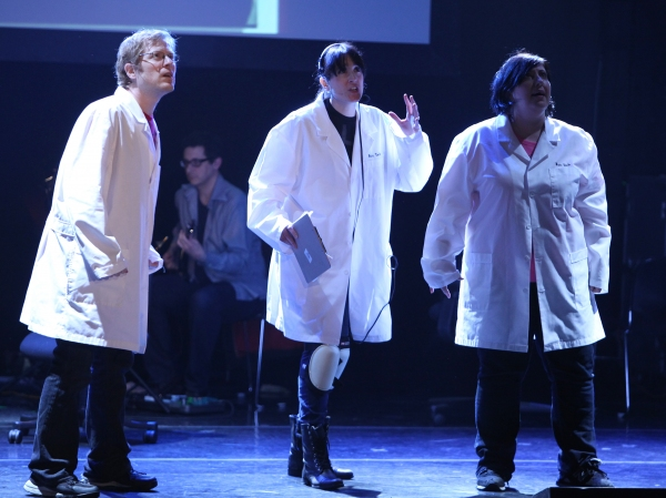 Anthony Rapp, Dee Roscioli & Ashlie Atkinson Performing in  at The 24 Hour Musicals after performance party at the Gramercy Theatre in New York City.