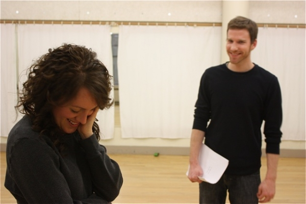 Samantha Soule and Matt Dickson at THE UMBRELLA PLAYS in Rehearsal at The Tank