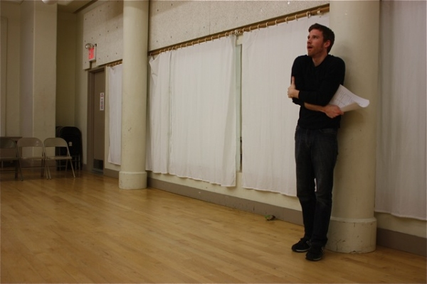 Matt Dickson at THE UMBRELLA PLAYS in Rehearsal at The Tank