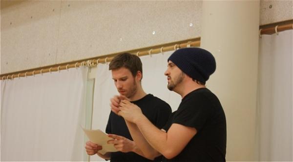 Matt Dickson and Daniel Talbott at THE UMBRELLA PLAYS in Rehearsal at The Tank