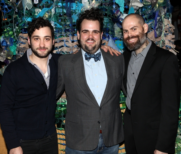 Teddy Bergman, Greg Hildreth, Matt D'Amico attending the opening Night After Party for 'Peter and the Starcatcher' at Phebe's in New York City