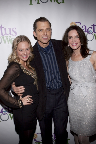 Jenni Barber, Maxwell Caulfield and Louis Robbins