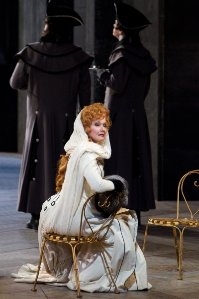 "Karita Mattila as Lisa in Tchaikovsky's ""The Queen of Spades."" Photo: Marty Sohl/Metr Photo"