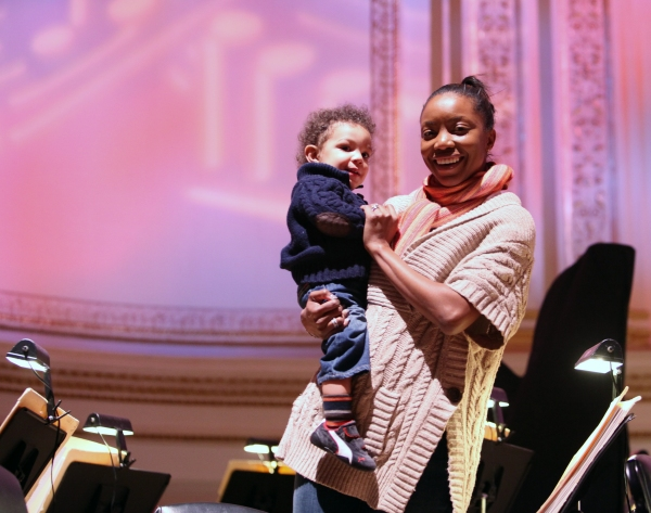 Heather Headley & son John David Open Rehearsal and Concert Performance of The New York PopsÕ The Great Judy Garland Ð a one-night-only, song-for-song recreation of GarlandÕs historic 1961 performance at Carnegie Hall in New York City. at EXCLUSIVE Photos: New York Pops' The Great Judy Garland Rehearsal