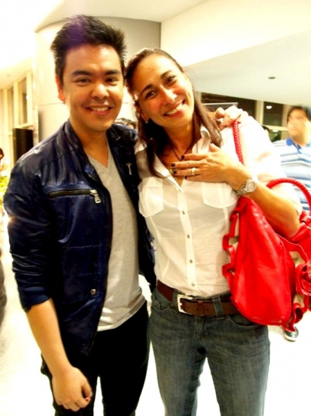JM Rodriguez, Cherie Gil at  NEXT TO NORMAL Manila Opening Night