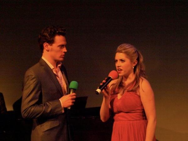 Annie Abrams and Erich Bergen