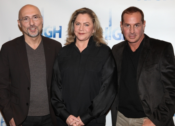Kathleen Turner with director Rob Ruggiero &  playwright Matthew Lombardo  attend the Photo