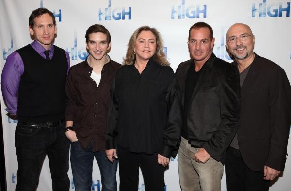 Stephen Kunken, Evan Jonigkeit, Kathleen Turner, playwright Matthew Lombardo & direct Photo