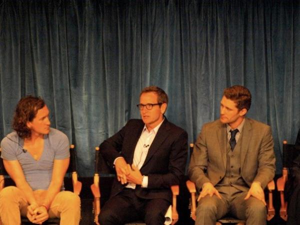 Ian Brennan, Dante DiLoreto, and Matthew Morrison  Photo