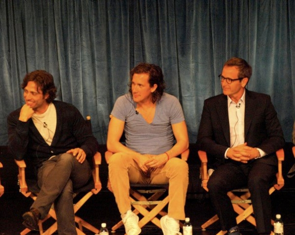 Brad Falchuk, Ian Brennan and Dante DiLoreto at GLEE Cast Returns To PaleyFest