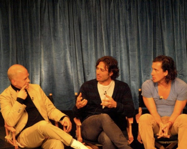 Ryan Murphy, Brad Falchuk, and Ian Brennan at GLEE Cast Returns To PaleyFest