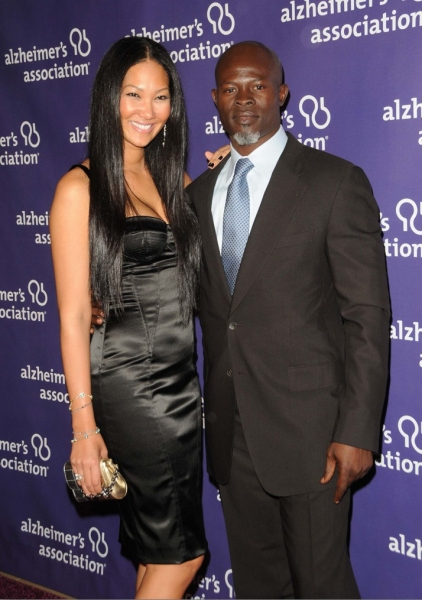 Kimora Lee and Djimon Hounsou Photo
