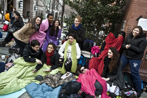 Photo Coverage: RENT Hopefuls Await Open Call Auditions!