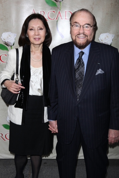 James Lipton & wife attending the Broadway Opening Night Performance of 'Arcadia' at the Barrymore Theatre in New York City at ARCADIA Opening Night Arrivals