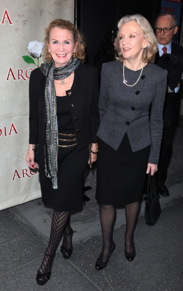 Juliet Mills & Hayley Mills attending the Broadway Opening Night Performance of 'Arcadia' at the Barrymore Theatre in New York City