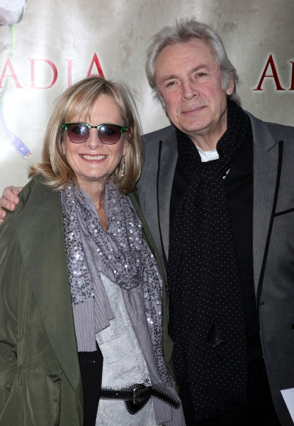 Twiggy & Leigh Lawson attending the Broadway Opening Night Performance of 'Arcadia' at the Barrymore Theatre in New York City