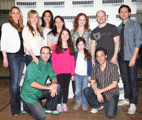 (back row) Shannon Lewis, Emilee Dupre, Jessica Lea Patty, Rachel Bress, Megan Reinking, Jeremy Davis and Paul Anthony Stewart (front row)  Brad Bradley, Maya Goldman, Andie Mechanic and Jeffrey Schecter attending the 'The People in the Picture' Meet & Gr at THE PEOPLE IN THE PICTURE Cast Meets the Press!