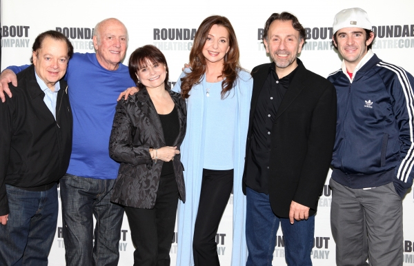 Artie Butler, Mike Stoller, Iris Rainer Dart, Donna Murphy, Leonard Foglia and Andy Blankenbuehler attending the 'The People in the Picture' Meet & Greet at the Roundabout Rehearsal Studios in New York City.
