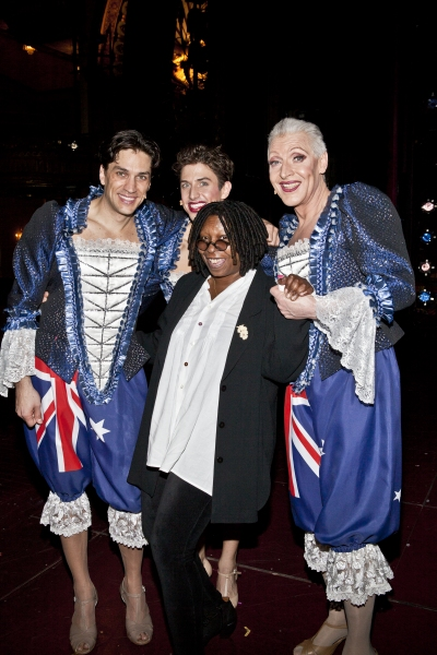 Photo Coverage: Whoopi Goldberg and Other Stars Visit PRISCILLA