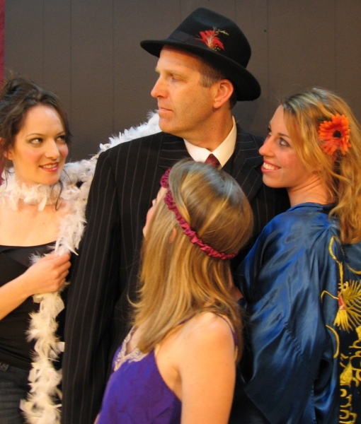 Macbeth with Wierd Sisters (L-R) - Miranda LeQuire, Robert Kramer, Lindsey Christian, Chelsea Rossetto