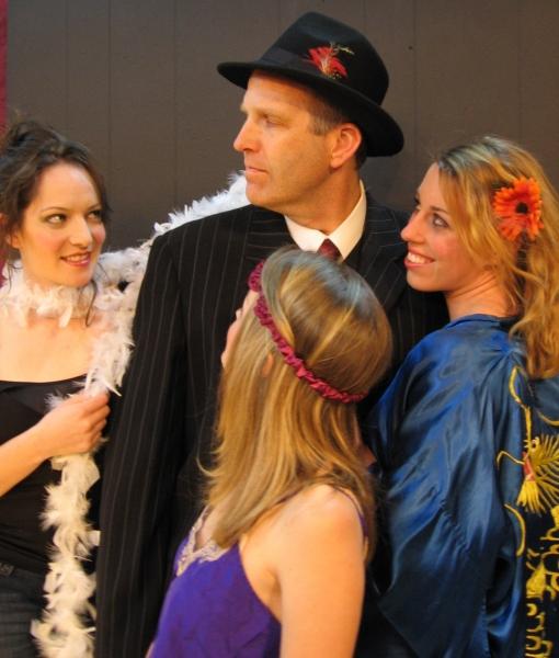 Macbeth with Wierd Sisters (L-R) - Miranda LeQuire, Robert Kramer, Lindsey Christian, Chelsea Rossetto