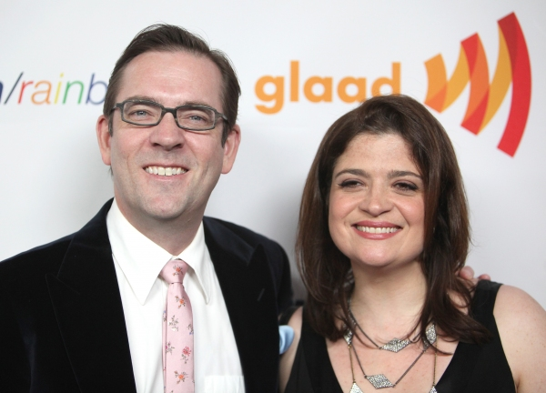 Ted Allen and Alex Guarnaschelli attending the 22nd Annual GLAAD Media Awards in New York City.