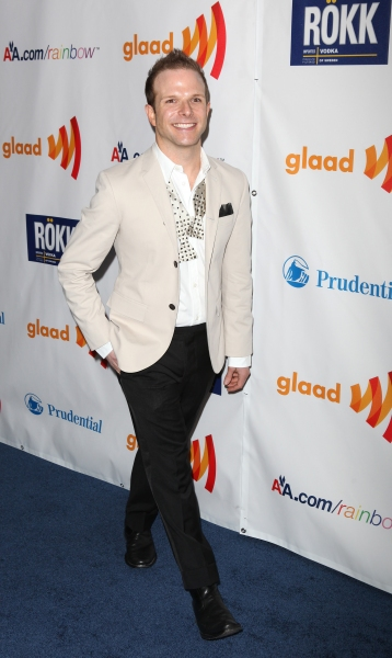 Zac Young attending the 22nd Annual GLAAD Media Awards in New York City.