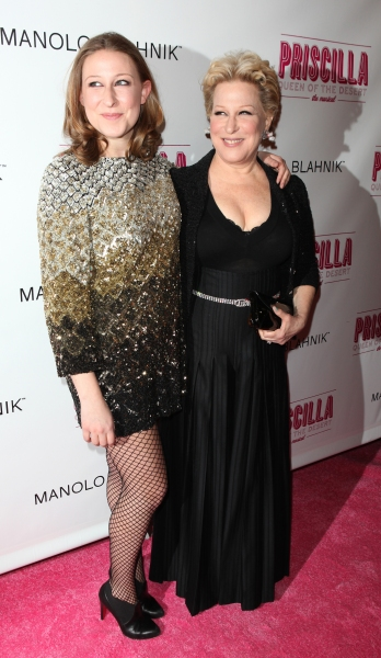 Bette Midler & daughter Sophie Frederica Von Haselberg attending the Broadway opening Night Performance of 'Priscilla Queen of the Desert - The Musical' at the Palace Theatre in New York City.