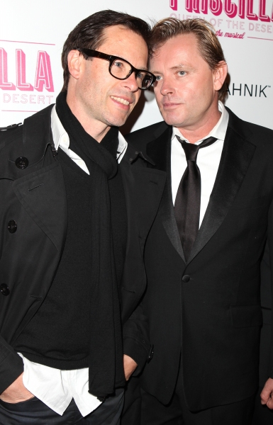 Guy Pierce & Stephen Elliott attending the Broadway opening Night Performance of 'Priscilla Queen of the Desert - The Musical' at the Palace Theatre in New York City.
