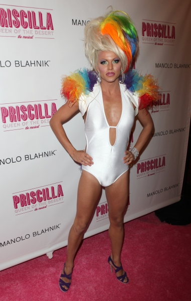 Courtney Act attending the Broadway opening Night Performance of 'Priscilla Queen of the Desert - The Musical' at the Palace Theatre in New York City.