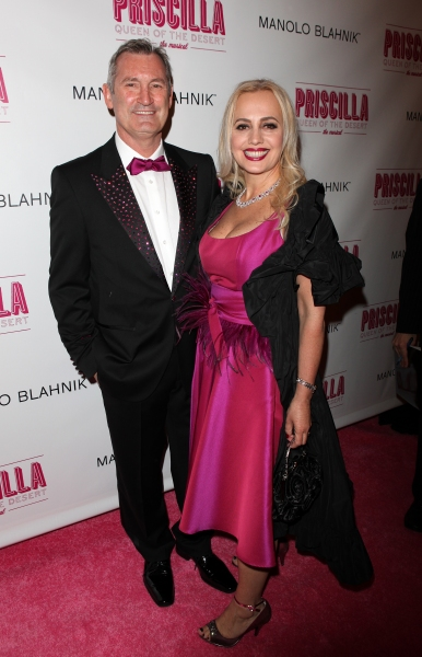 Garry McQuinn and Liz Koops  attending the Broadway opening Night Performance of 'Priscilla Queen of the Desert - The Musical' at the Palace Theatre in New York City.