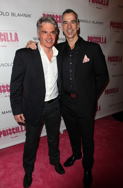 Tony Britton Johnson and Jerry Mitchell attending the Broadway opening Night Performance of 'Priscilla Queen of the Desert - The Musical' at the Palace Theatre in New York City.
